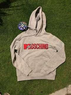 H&MOSCHINO MTV HOODED TOP WITH EMBROIDERY