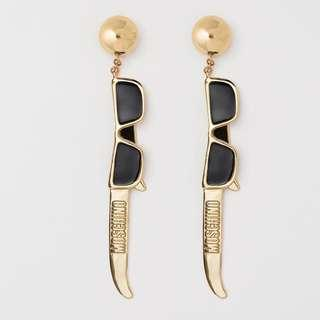 Moschino [TV] H&M Gold Pleated Clio Earrings