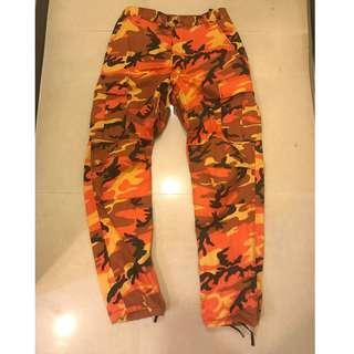 Rothco 橘色 迷彩 軍褲