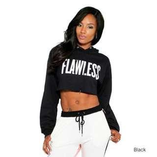 Cropped Hoody Flawless Black