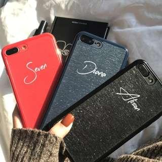 🚚 Customise Name Textured Phone Case