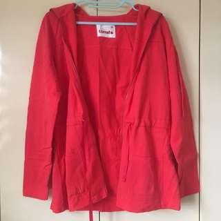 Tomato red jacket