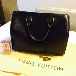 (Preloved) Authentic LV epi speedy 30 black
