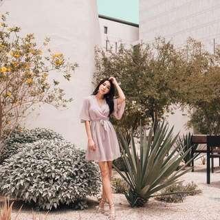 BN Lovet Rayna Pastel Grey Dress