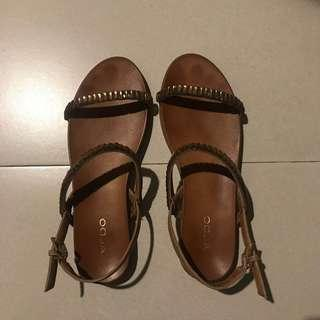Aldo Sandals with Brown Stone Details