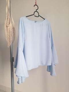 Light blue flare top