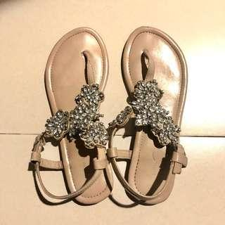 New Look Crystal Embedded Sandals