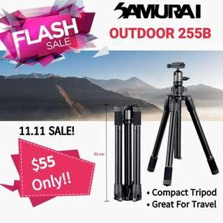 Samurai Outdoor 255B Lightweight Tripod/Local Warranty/Ready Stock! PayLoad 6Kg!