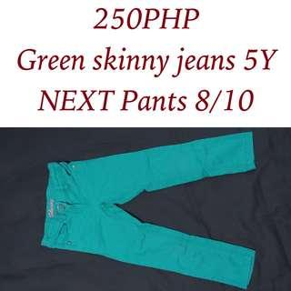 NEXT Green Skinny Jeans  for 5Y girls