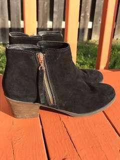 Classy black booties