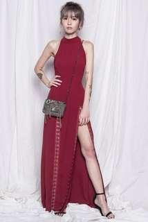 YHF Hooked On You Maxi Halter Dress
