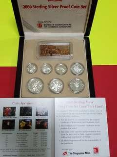 2000 sterling silver proof coin set with box n cert.(issue price 124.27) now selling at discount.