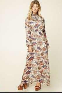F21 foliage maxi dress