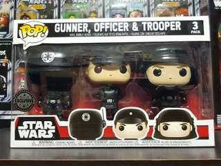 Funko Pop Star Wars Gunner Officer Trooper 3 pack