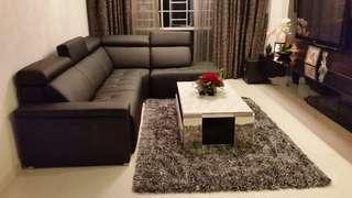 Leather Sofa (L-Shape)
