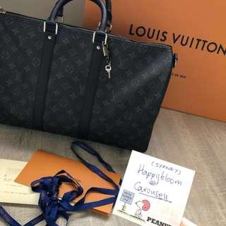 New Louis Vuitton LV Keepall 45 monogram eclipse duffle weekend travel bag Receipt 100%Auth