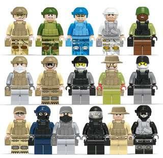 Miniature Blocks Military 15pcs SALE
