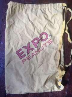Vintage Sling Bag- Expo peanuts-Sunshine Green Peas