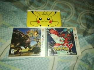 3ds with pokemon x and mh4