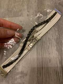 White faux leather bracelet