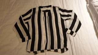BN Black and White Strip Top