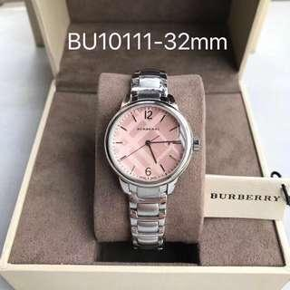 🚚 10111 Burberry classic silver&Pink ladies watch ⌚️