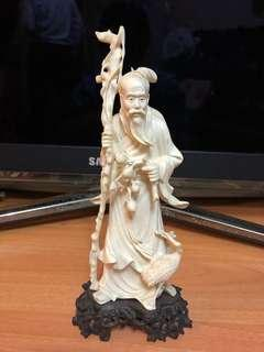 象牙雕刻壽星公