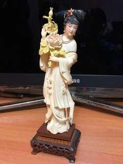 象牙雕刻 伴彩北京宮美女