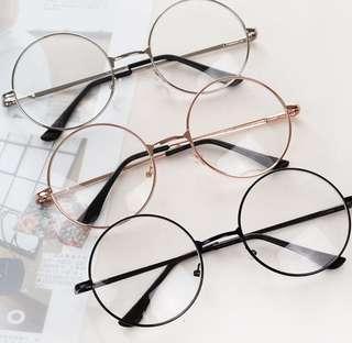 Korean Ulzzang Fashion Round Glasses Spectacle (Black)