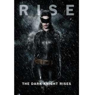 HOT Batman The Dark Knight Rise 蝙蝠俠 CATWOMAN POSTER 海報 TOYS