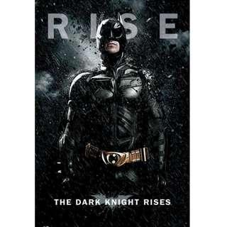 HOT Batman The Dark Knight Rise 蝙蝠俠  POSTER 海報 TOYS