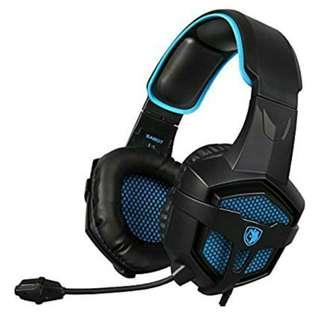 -1445-SADES SA-807 New Released Multi-Platform New Xbox one PS4 Gaming Headset ], Gaming Headsets Headphones For New Xbox one PS4 PC Laptop Mac iPad iPod (Black&Blue)