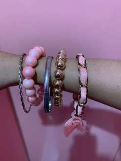 Pink & Gold Bangles set