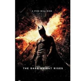 HOT Batman The Dark Knight Rise 蝙蝠俠 夜神起義 海報 TOYS