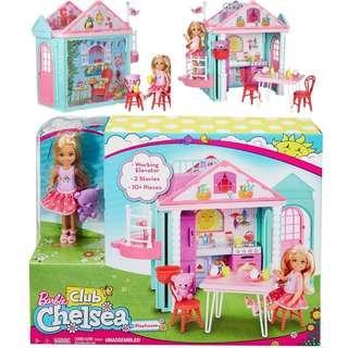 BNIB: Barbie Club Chelsea Clubhouse Playset