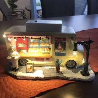 Battery operated christmas village bakery