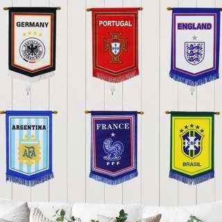 🚚 Countries football flag / banner limited stock available at $6 only