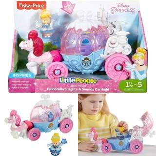 BNIB: Fisher Price Little People Disney Princess Cinderella's Lights & Sounds Carriage