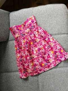 Floral Fuchsia Pink Baby Dress