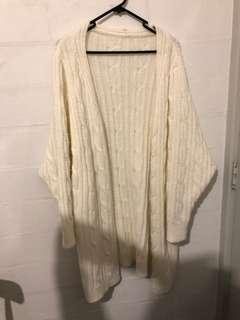 Maxi knitted cardigan