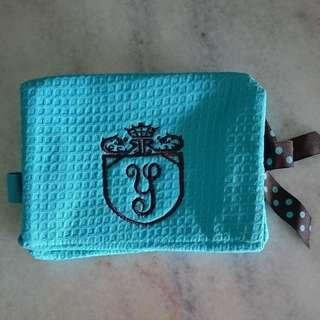 Turquoise Spa Fabric Zipper Pouch *comes with free strap*