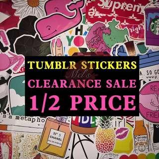 Tumblr Sticker • Clearance Sale • Half Price • Please read the description before making purchase 😊