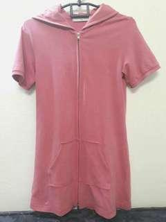 (Reprice!) Pink Long Hoodie by GIORDANO