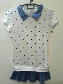 (Reprice!) Polkadot Shirt by CACHE CACHE