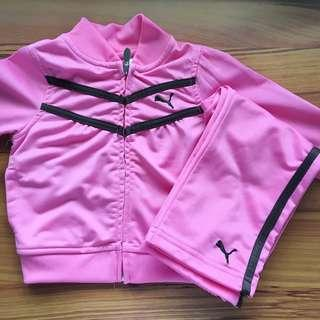 Puma Baby Girls' Pink Track Jacket and Pants (18 mos)