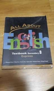 All About English Sec 3 Express Textbook