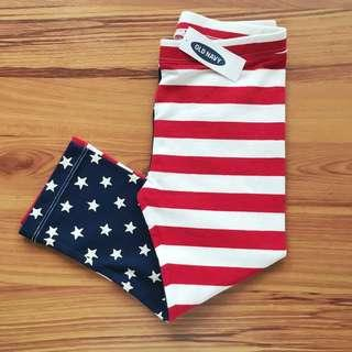 NEW! Old Navy Girls' US Flag Print Crop Length Pants (Size 5T)