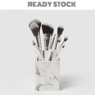 [Free Post] BH COSMETICS White Marble - 9 Piece Brush Set