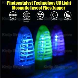 [Kibot-Home]Photocatalyst Led Electric Mosquito Fly Pest Bug Insect Zapper/UV Tide Light Wave Anti-Mosquito Zapper Night Lamp Physical Mosquito Killing Chemical-free No Spray/Safe For Infant & Pregnant Woman Low Power Consumption