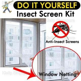 [Kibot-Home]DIY Mosquito Insect Window Screen Mesh Netting Curtain/Anti-Insect Fly Bug Mosquito Cockroach/Invisible Easy Install Tailored Remove Velcro Tape Filter Dust Enjoy Healthy Breeze/Fits All Type Of Windows